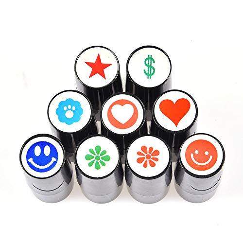 Sunnyushine Sello De Impresión De Marcador para Golf, Sello De Golf, Sello De Bola De Golf Secado Rápido Colorfast, Marcador para Bolas/Golfball Stamp/Marker A Diferente Diseños