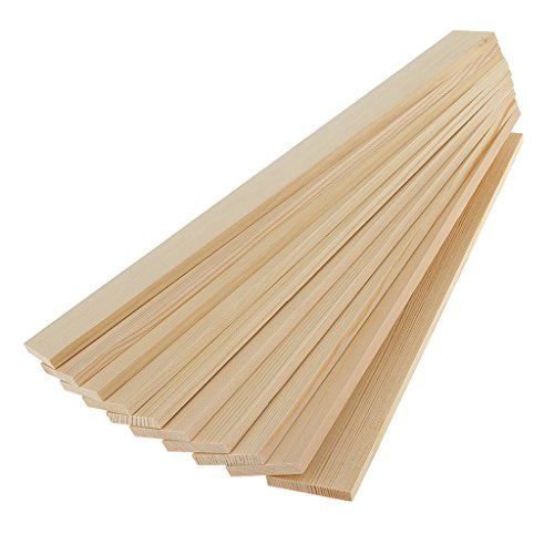 Pllieay 100 palillos de bambú natural para manualidades (40x0.9x0.2cm)