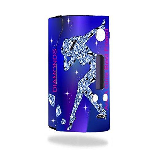 Decal Sticker Skin WRAP Diamonds Lady Quote Best Friend Rock Stars Printed Design for Wismec Reuleaux RX200