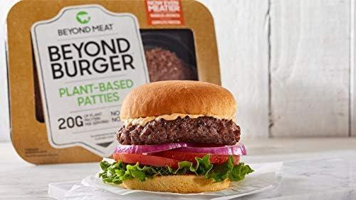 Beyond Meat Burger   Hamburguesa 100% Vegetal   Plant Based   Sin Gluten   Sin Soja   Vegano   2 porciones (227g) (Pack de 7)