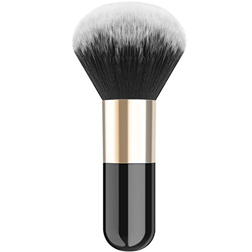 Luxspire Professional Makeup Brush, Single Handle Large Round Head Soft Face Mineral Powder...