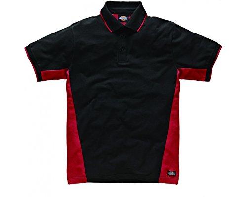 Dickies zweifarbiges Polo Shirt rot/schwarz RDB3XL, SH2004