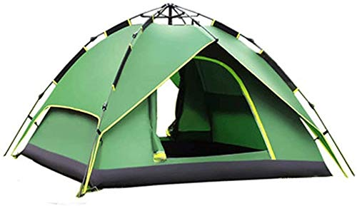 SAIYI Windproof Camping Tent Awning Family Double Layer with for Outdoor Camping Family Beach Hiking Travel 215 * 215 * 135cm Automatic Camping Tent