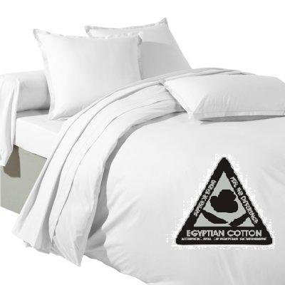 Bedding Online Double Egyptian Cotton 200 Tc Duvet Quilt Cover Bedding Set, White by Bedding Online