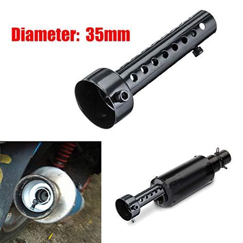 LisylineAuto Motorcycle Muffler Insert Baffle Can Removable Exhaust Silencer DB Killer Universal Noise Sound Eliminator 35mm/48mm/60mm (Black, 35mm)