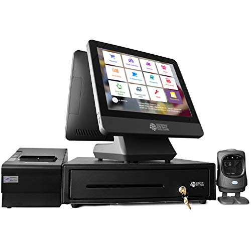 NRS POS System Bundle - Includes Cash Register Drawer, Touchscreen, Customer...