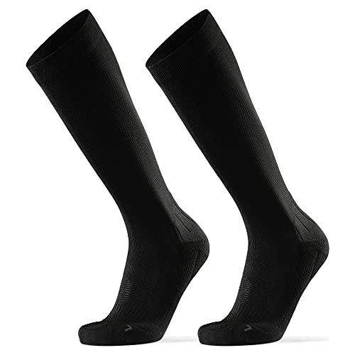 DANISH ENDURANCE Calcetines de Compresión 2 pares (Negro sólido, EU 39-42)