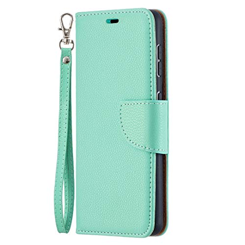 Leather Wallet Case for Galaxy S21 PU Leather Magnetic Flip Cover with Card Slots Holders Bookstyle Wallet Case for Galaxy S21 - JEBF100527 Green