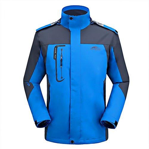 GITVIENAR Herren 3 in 1 Outdoor Jacken Softshell Jacken Skifahren Bergsteigen Kleidung warm Winddichte Kleidung großen Werften wasserdichte Bekleidung atmungsaktive Klettern warme Kleidung