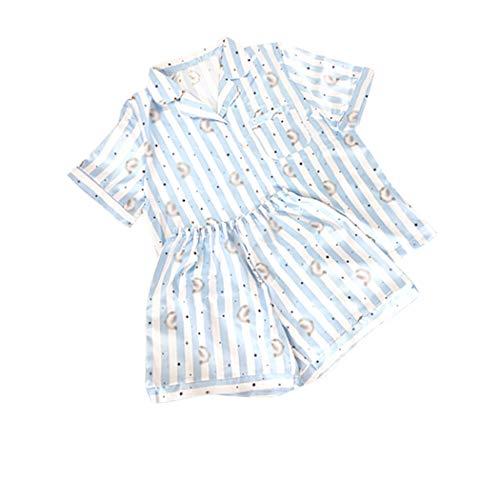 JLTPH Unisex BTS Schlafanzug Sommer 2pcs Pyjama Set CHIMMY Cooky KOYA MANG RJ SHOOKY TATA Same Harajuku Cartoon Kurzarm Nachtwäsche Pajamas Nighty Bedgown für Army KPOP
