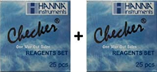 Two Pack: Hanna Instruments HI 713-25 Reagents Phosphate for HI 713 Checker HC (Total of 50 Tests) by Hanna Instruments