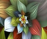 Arte Abstracto De Flores Diy 5D Diamante Pintura Completa Ronda Taladro Mosaico Bordado Punto Cruz Punto Cuentas Decoración Hogar Regalo Artesanal Mural