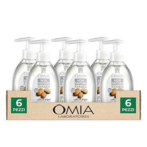 Set 6 Omia ECOBIO geen zeep Argan 300 maatbeker verzorging en reiniging van het lichaam