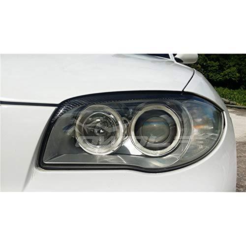 JXSMQC Carbon Fiber koplamp Cover wenkbrauwen ooglid Trim Sticker.Voor BMW 1 Serie E81 E82 E87 E88 2004-2010Koplamp Wenkbrauw