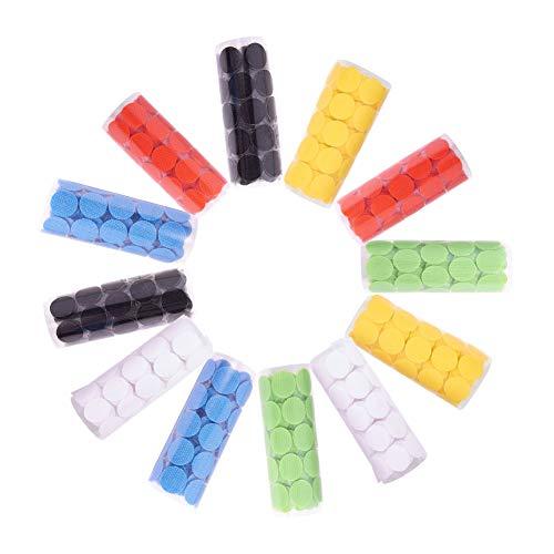 NBEADS 600 Pares 2cm Cintas Adhesivas de Ganchos y Cintas Redondas mágicas, 6 Colores Mezclados, 12 Rollos