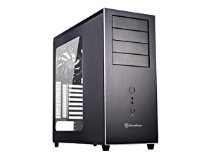 Silverstone Temjin TJ04-EW (SST-TJ04B-Evolution) Mid Tower Computer PC Case- BLACK