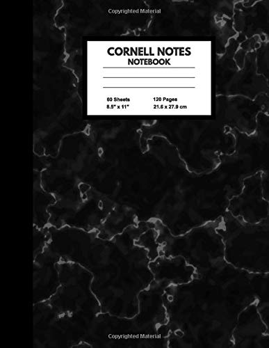 Cornell Notes Notebook: Large College Ruled Note Taking System for School and University | 120 Pages, 8.5