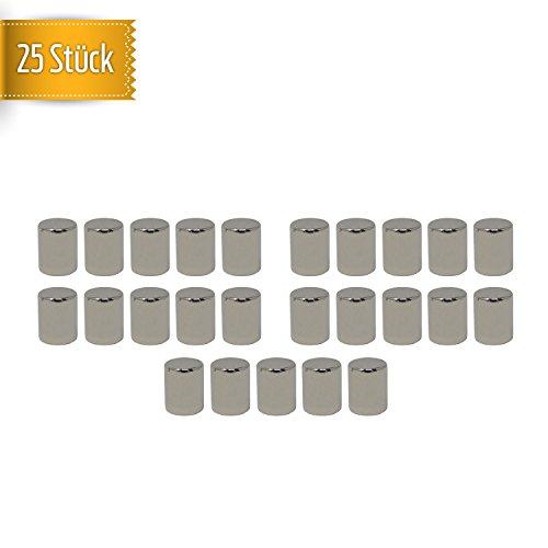 Aimant En Néodyme Mate®   25 Durée de Aimants   N52 Roue Disque magnétique 8 x 10 mm   Extra Forte magnetisierung – Idéal pour le bureau, tableau, tableau blanc, réfrigérateur