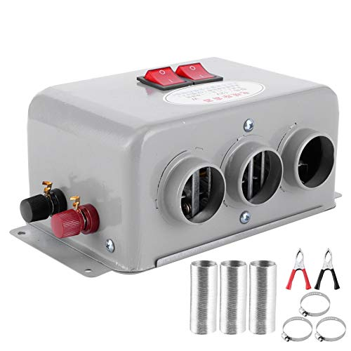 Riscaldatore per auto, Sbrinatore per auto, Riscaldatore per auto compatto 12V 3 Fori 600W-800W Scaldino invernale a riscaldamento rapido antigelo che rimuove il basso rumore