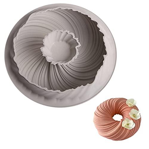 Spirale Form Kuchenbackform Silikon Backform Baking Pan Runde Backform Silikon DIY Backwerkzeug 3D Spiralkuchen Backformen für Küche Torte Brot Backen