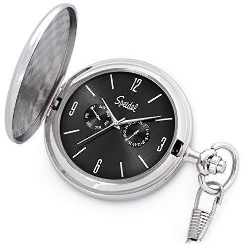 Speidel Classic Brushed Satin Engravable Pocket Watch