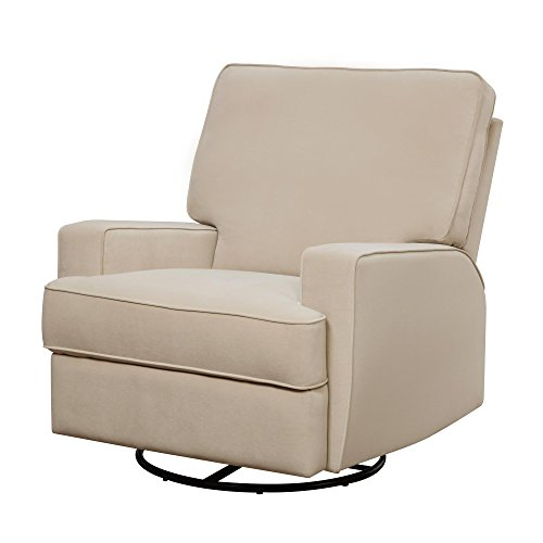 Baby Relax Rylan Swivel Glider Recliner Chair, Modern Furniture, Beige