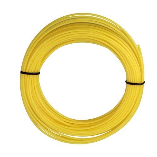 Fácil de llevar 1.75mm 5m de goma plástica de la impresión 3D de filamentos de materiales for Pen filamento PLA Material de oficina (Color : Yellow)
