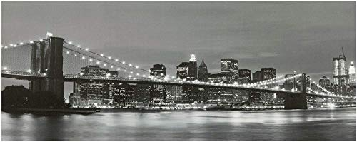 Large Brooklyn Bridge New York Canvas Picture Print With LED Lights by Garden Market Place