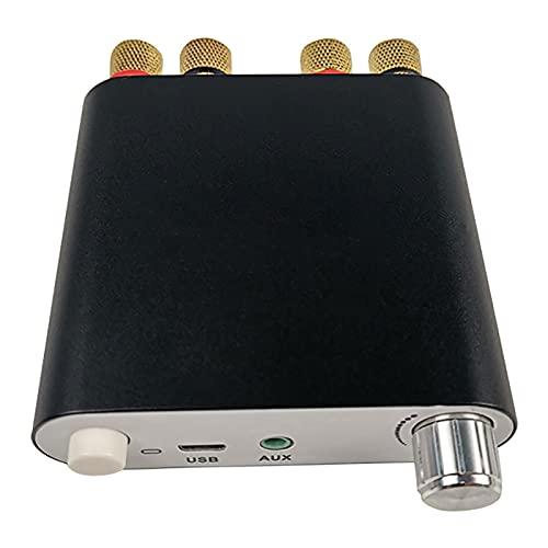 WWMH Bluetooth Amplificador Mini Amplificador PóRtatil Amplificador Digital Hi-Fi 100 X 2 W, Bluetooth 5.0, 2.0 Canales, EstéReo, para Altavoces DoméSticos,Negro