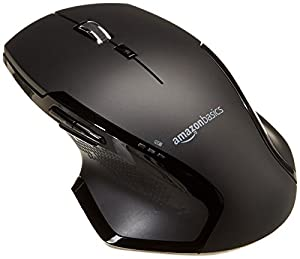 Full-size wireless mouse with fast-scrolling, clickable wheel and forward/back thumb buttons for fast, easy navigating through large documents and web pages Ergonomically designed for right-handed users; smooth, gently curved profile fits perfectly i...