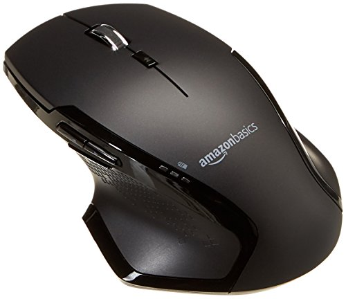 Amazon Basics Full-Size Ergonomic Wireless PC Mouse with Fast Scrolling