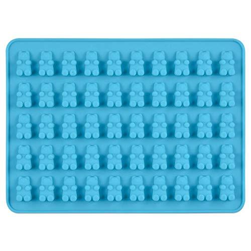 Mingtongli DIY-Gelee-EIS-Form 50 Löcher Gummy Süßigkeit-Karikatur-Tier-Silikon-Schokoladen-Backblech Dropper