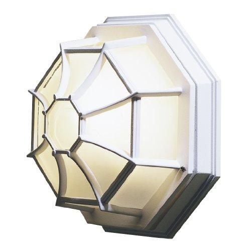 Konstsmide 7091-250 wandlamp/B: 27 cm D: 13 cm H: 27 cm / 1x60W / IP23 / gelakt aluminium/mat wit