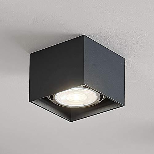 Arcchio LED Deckenlampe 'Mabel' dimmbar (Modern) in Alu aus Aluminium u.a. für Küche (1 flammig, GU10, A+, inkl. Leuchtmittel) - Deckenleuchte, Wandleuchte, Strahler, Spot, Lampe, Küchenleuchte