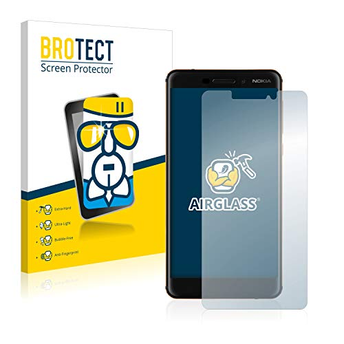 BROTECT Panzerglas Schutzfolie kompatibel mit Nokia 6.1/6 2018 - AirGlass, extrem Kratzfest, Anti-Fingerprint, Ultra-transparent