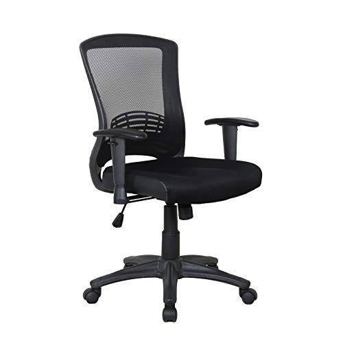 X Rocker, 0780001, Mesh Office Chair, 27.75 x 25 x 35.25, Black