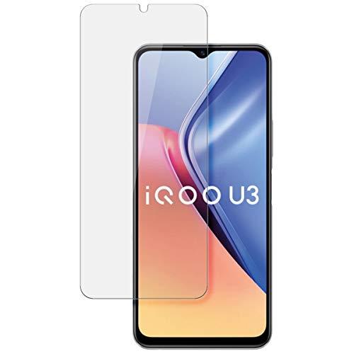 disGuard Protector de pantalla para Vivo iQOO U3 [2 unidades] Cristal transparente, protector de pantalla, película de vidrio templado, extremadamente resistente a los arañazos, transparente