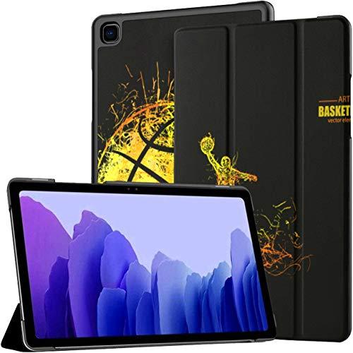 Funda para Samsung Galaxy Tab A7 Tablet de 10,4 Pulgadas 2020 (sm-t500 / t505 / t507), Baloncesto Deportes Bandera Moderna Cubierta de Soporte de ángulo múltiple con activación/suspensión automátic