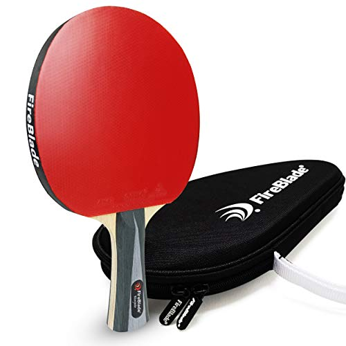 FireBlade 'Ninjato' - Bate de Tenis de Mesa ITTF de Carbono con Estuche, Madera de 5 Capas...