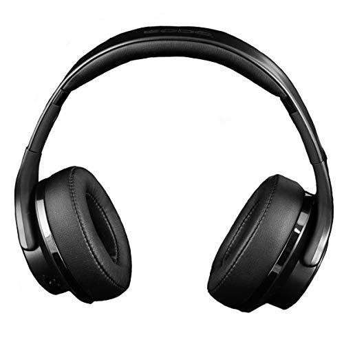 Ksix Auriculares Inalámbricos 2 en 1 Reversibles a Altavoz Bluetooth, Plegables, NFC, Micro SD y Radio FM incorporados, Color Negro