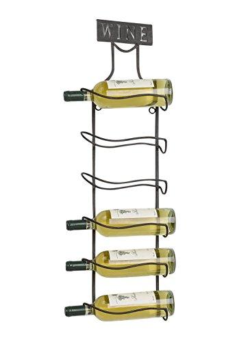 Kobolo Weinregal Flaschenregal Weinflaschenregal - Metall - schwarz - für 6 Weinflaschen