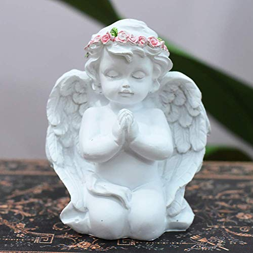 NBVCX Household parts Child Angel Home Decor cherub Statue Prayers Of An Angel Figurine Resin Sculpture Art Ornaments Arts Crafts Desktop Decor-h 9x20cm(4x8inch)