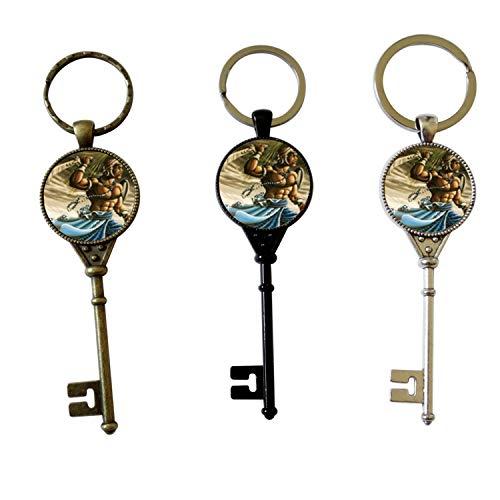 Oggun 15 Santeria Collection Llave de Ogun Protection Key Talisman Amulet (BLACK)