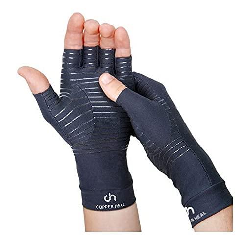 GUANTES de Compresión para ARTRITIS de Cobre por COPPER HEAL Reumatoide Tunel carpiano manos dedos alivia Dolores y rigidez de Manos Suave comodo arthritis gloves