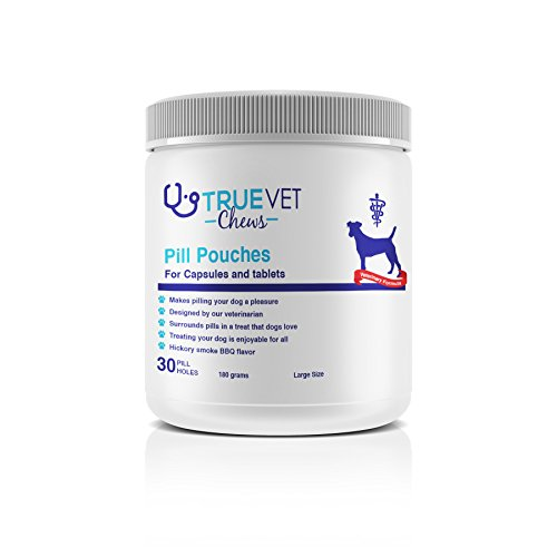 TruePill Pouches for Large to XL Tablets and Capsules 30 Count LargeXL  No Mess No Stress  Hickory Smoked flabor