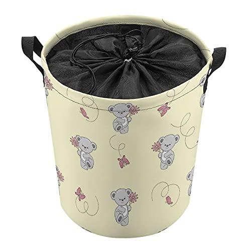 Cubo de almacenamiento impermeable grande organizador ligero cesta para la colada, cubos de juguete, cestas de regalo, ropa sucia, dormitorio de niños, mapache de mariposa de baño