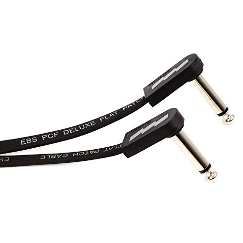 EBS PCF-DL28 Deluxe Flat Patch Cable - 28 Centimeter, Angle-Angle