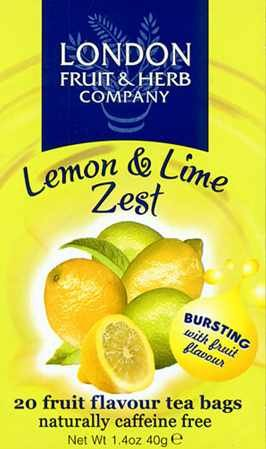 【ロンドンフルーツ&ハーブ】【イギリス土産】レモン&ライムゼスト(20パック入)