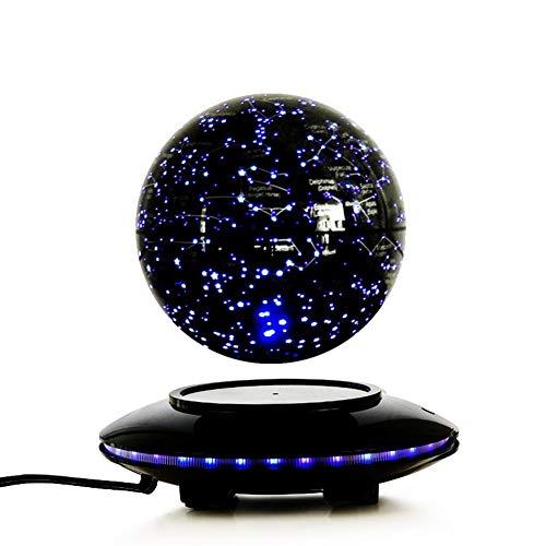 Sala de levitación magnética Globo que brilla 6 pulgadas creativo regalo de cumpleaños de la empresa Decoración Decoración de apertura de regalos Bola del globo del mundo de la tierra Mapa de rota