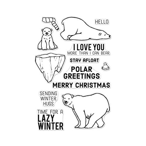 Hero Arts CM279 Clear Stamps, Polar Greetings